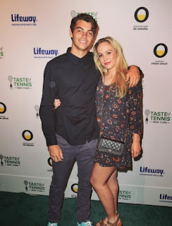 Taylor Fritz And His Wife Raquel Pedraza At Tennis Event
