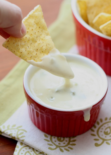 The BEST Queso Blanco Dip ~ Spicy White Cheese Dip recipe by barefeetinthekitchen.com
