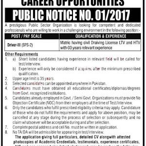 PO Box 658 Care Taker Jobs Atomic Energy Jobs PAEC Lahore PO