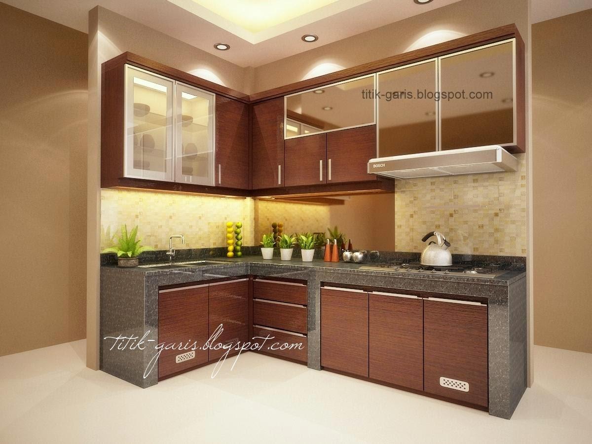 Desain Dapur Mungil Bentuk L Rumah Garis