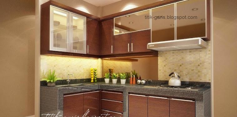 Dekorasi Desain Dapur Sederhana Bentuk L Terbaru