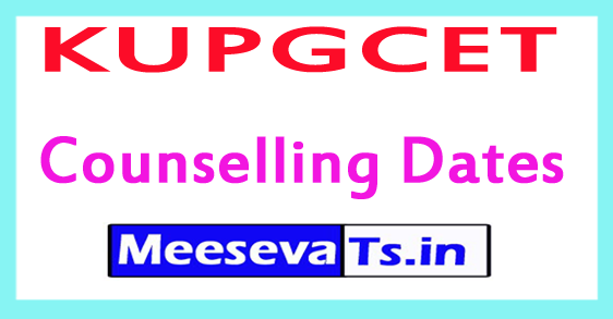 KUPGCET Counselling Dates 2017