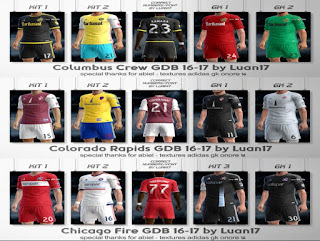 Kits: Chicago Fire, Colorado Rapids, Columbus Crew, Pes 2013