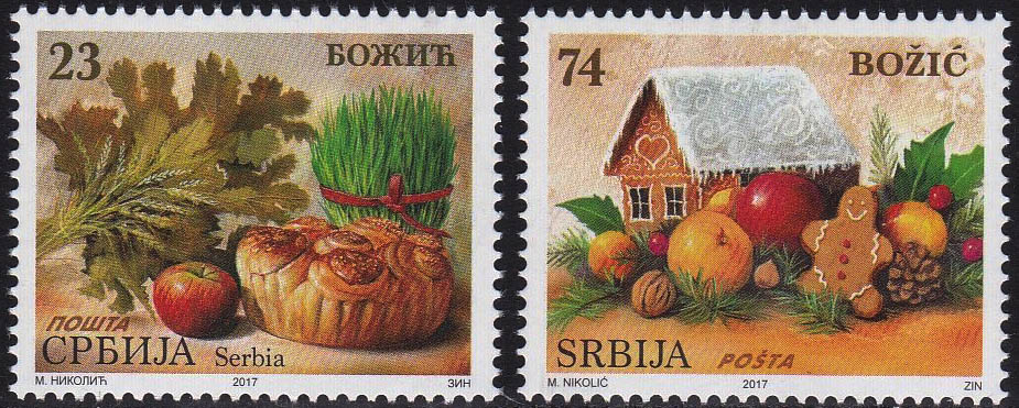 new serbian christmas stamps