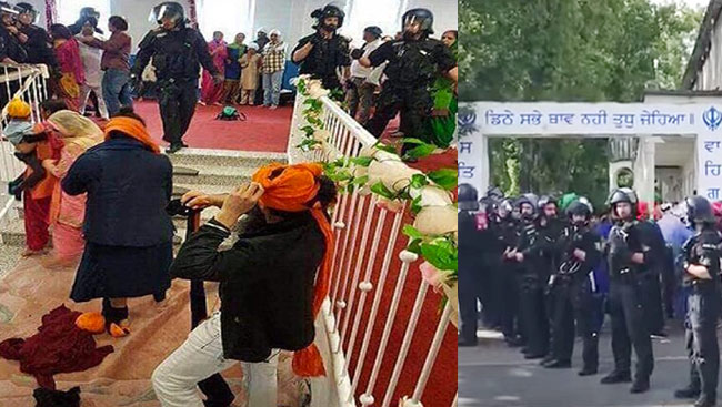 Image result for sikh center germany gurdwara fight