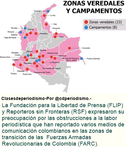 Así son las condiciones de trabajo para los periodistas en las zonas de transición de las FARC.
