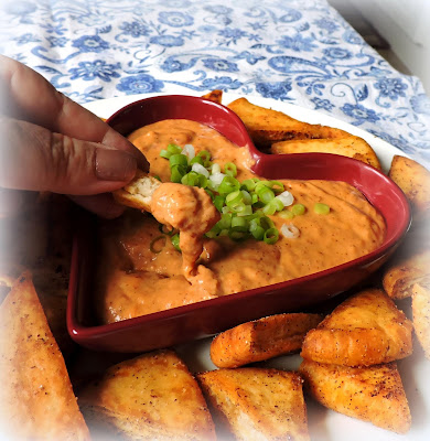 Spiced Bean Dip & Pita Crisps