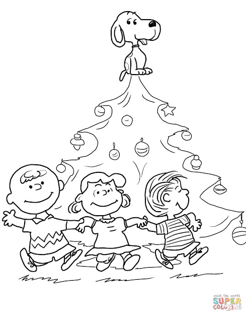 Click The Charlie Brown Christmas Tree Coloring Pages