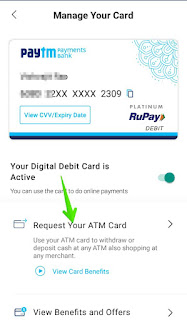 How to Apply For Paytm Debit Card/ATM Card in Hindi