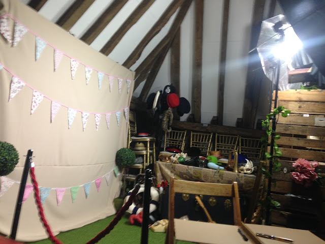 Photobooth set up in Dorset barn for wedding 02