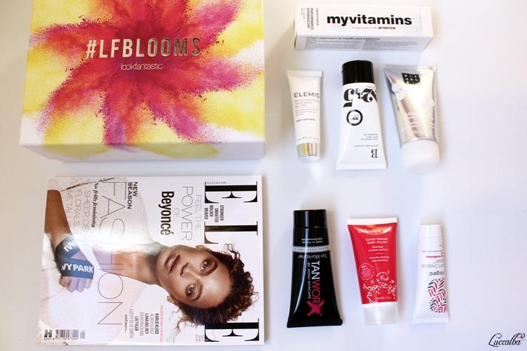 Productos contenidos en la caja Lookfantastic del mes de abril de 2016