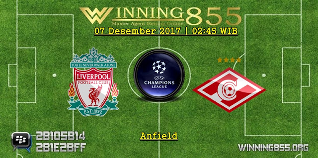 Prediksi Akurat Liverpool vs Spartak Moscow 07 Desember 2017