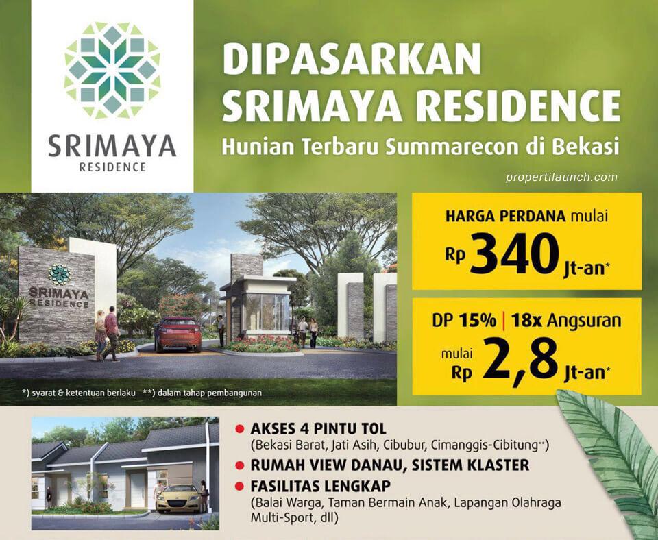 Dijual Rumah Srimaya Residence Summarecon