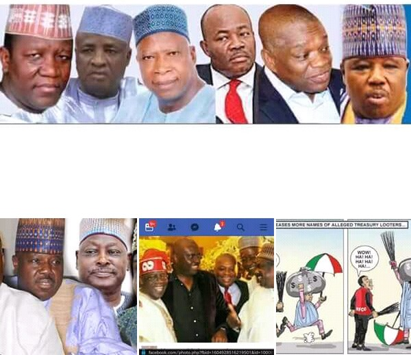 ORJI UZOR KALU ( @OUKTweets )AND SEVEN OTHER POLITICIANS WITH N232BN CORRUPTION CASES WORKING FOR BUHARI'S RE-ELECTION
