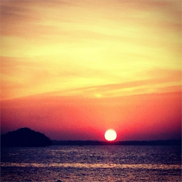 Sunset. Hundred Islands Pangasinan, Philippines