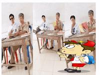 Kaki Nangkring Bak Di Warung Kopi, Siswa ini Tunjukan Sejatinya Zaman Sekarang Guru Tak Berwibawa