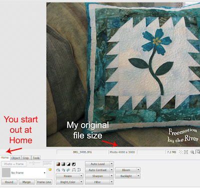 Photoscape Editor Window home button