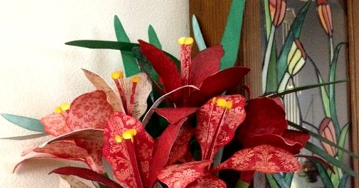 Geyda S Craft Creations 3d Amaryllis Flowers And Pitcher