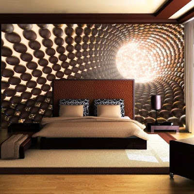 3D wallpaper mural for walls in bedroom