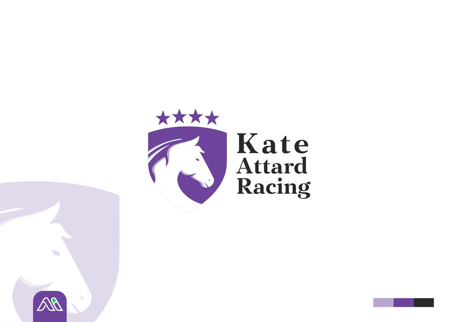 أعمال | شعار شركة تنظيم سباقات الخيول Kate Attard Racing
