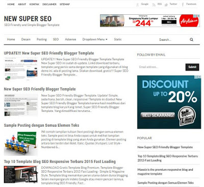 New super seo friendly blogger template themepoi free blogger new super seo friendly blogger template pronofoot35fo Image collections
