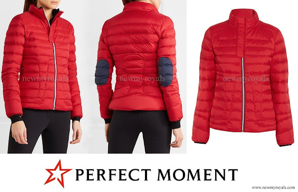 Kate Middleton wore PERFECT MOMENT Mini Duvet quilted down ski jacket