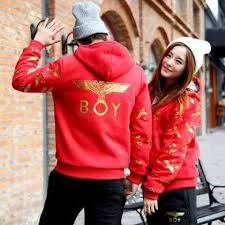 Jual Online Jaket BOY Merah Jakarta Bahan Combed Terbaru