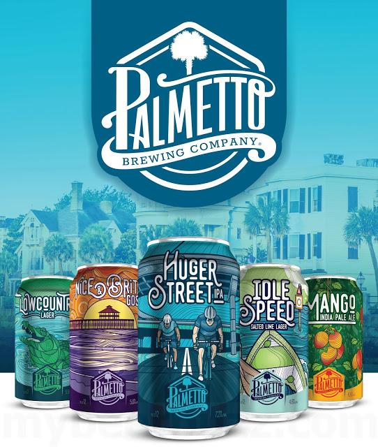 Mybeerbuzz .com Highlights Palmetto Brewing Lowcountry, Raspberry Rewind, Idle Speed,  Huger St, Mango IPA And Nice & Brite
