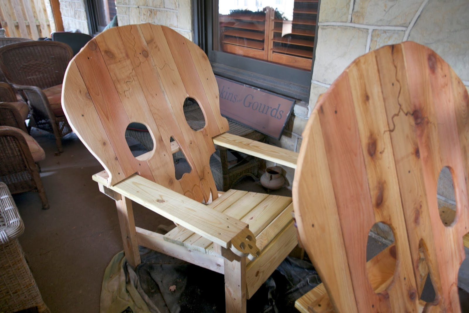 Black Skull Chair Child Table And Set Wooden Chairs