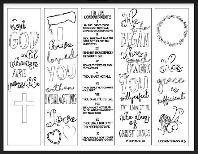 image about Free Printable Bookmarks to Color Pdf known as Christian Analysis Instruments: No cost Bookmarks