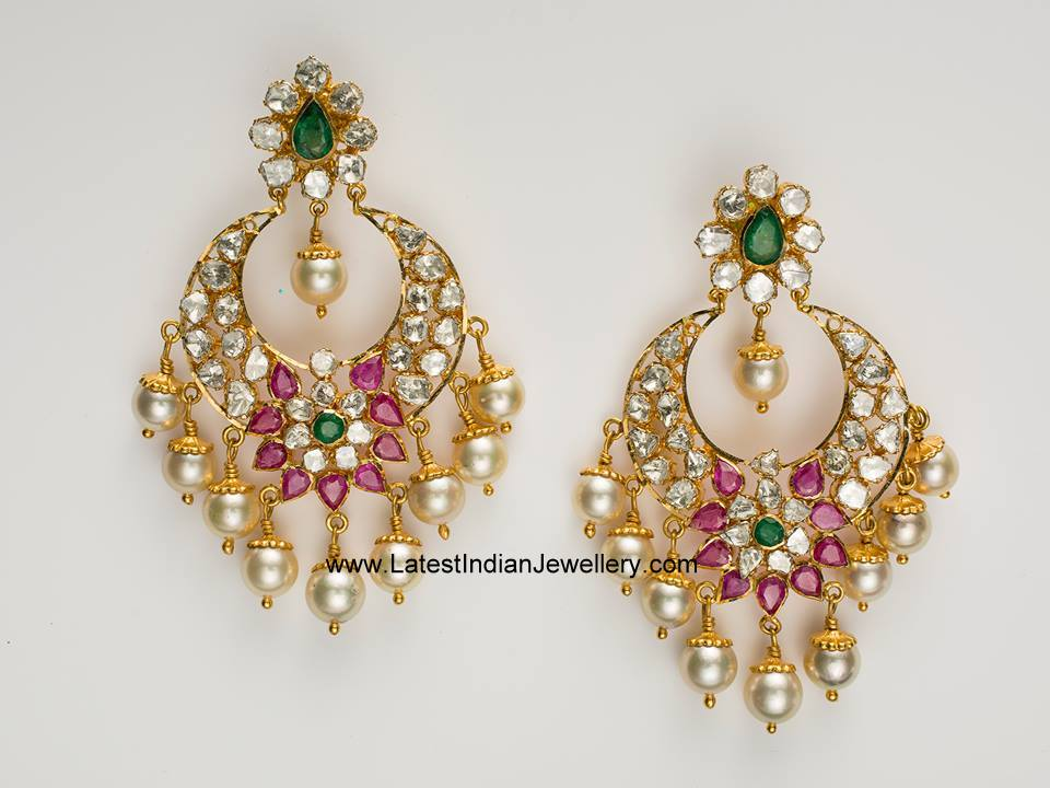 balis earrings stunning designer chand balis 6538
