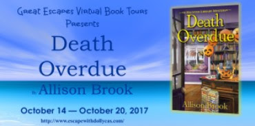 Review, Giveaway, Death Overdue, Allison Brooks, Bea's Book Nook