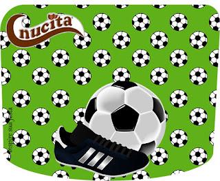 Etiqueta Nucita de Set de Fútbolpara imprimir gratis.
