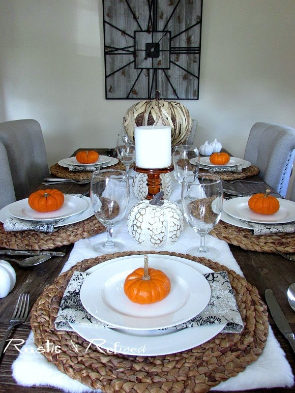 Quick and easy fall tablescape for entertaining and parties