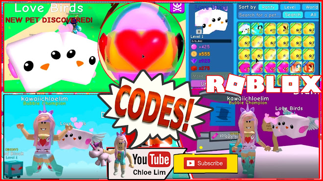 Roblox Bubble Gum Simulator Gameplay! 2 CODES That gives 25 minutes of 2X Hatch Speed! MY VALENTINES LOVE BIRDS!