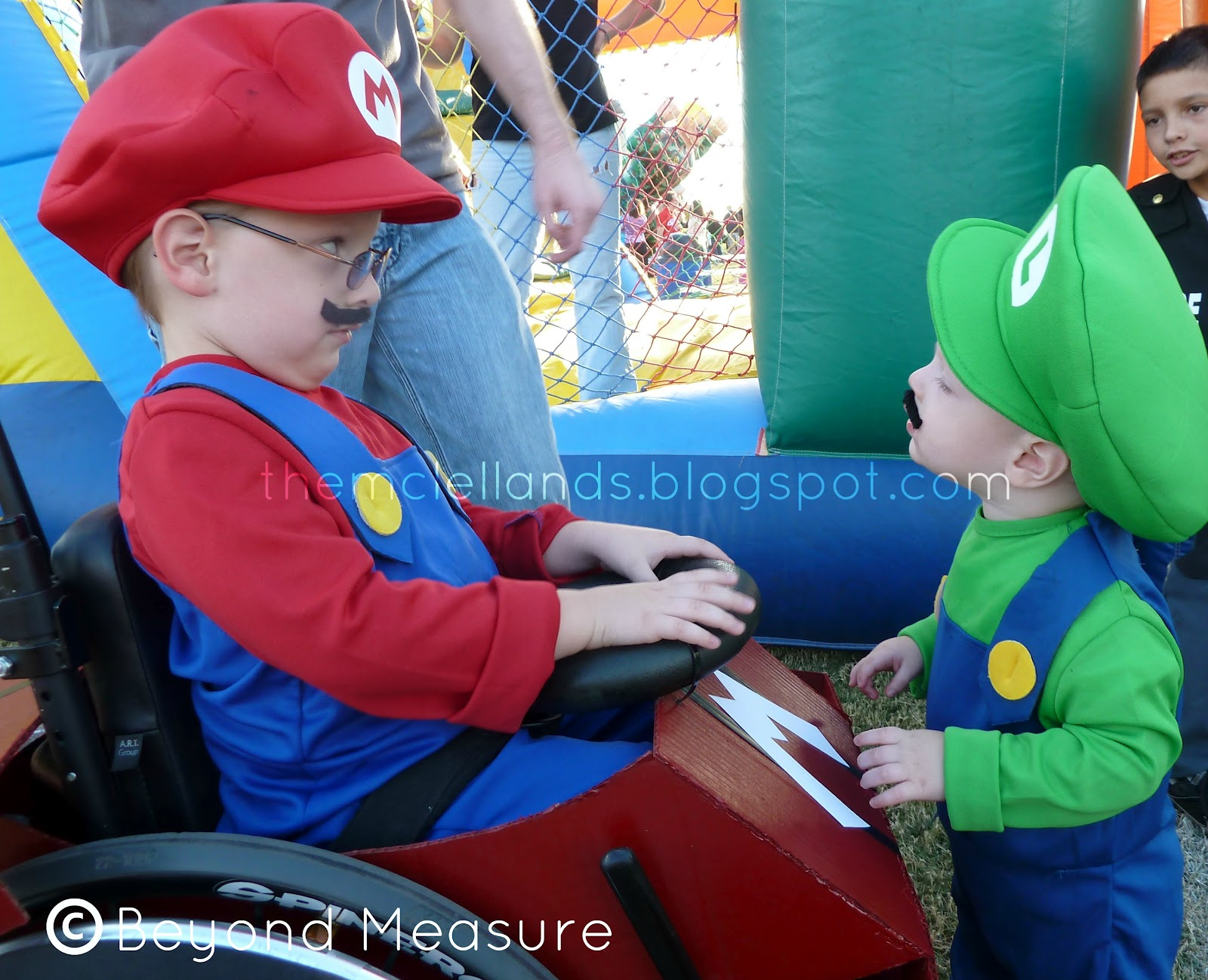 wheelchair mario best leather zero gravity chairs beyond measure and luigi take over halloween