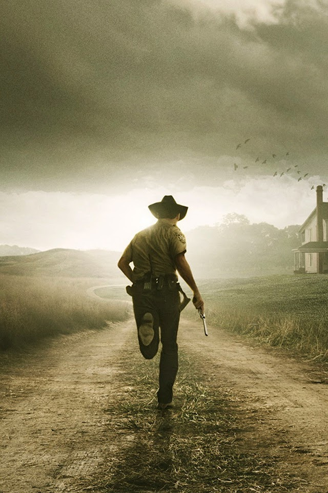 Rick Walking Dead   Galaxy Note HD Wallpaper