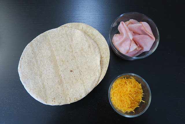 ham and cheddar quesadilla recipe