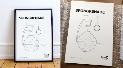 "SpongeBob Squarepants Inspired Spongrenade ""Disassemble"" Print by Nathan Cleary"