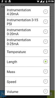 Instrumentation Unit Converter - Instrumentation Standard signals and Process Variable