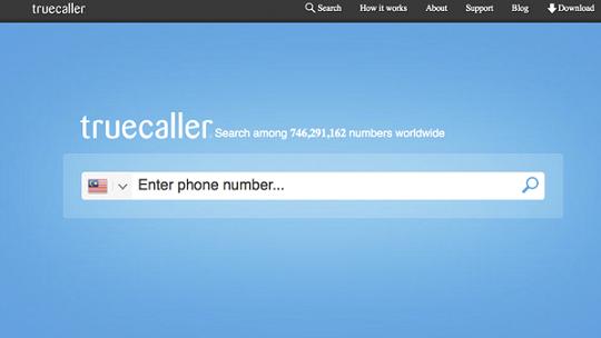 برنامج معرفة اسم المتصل من الكمبيوتر truecaller