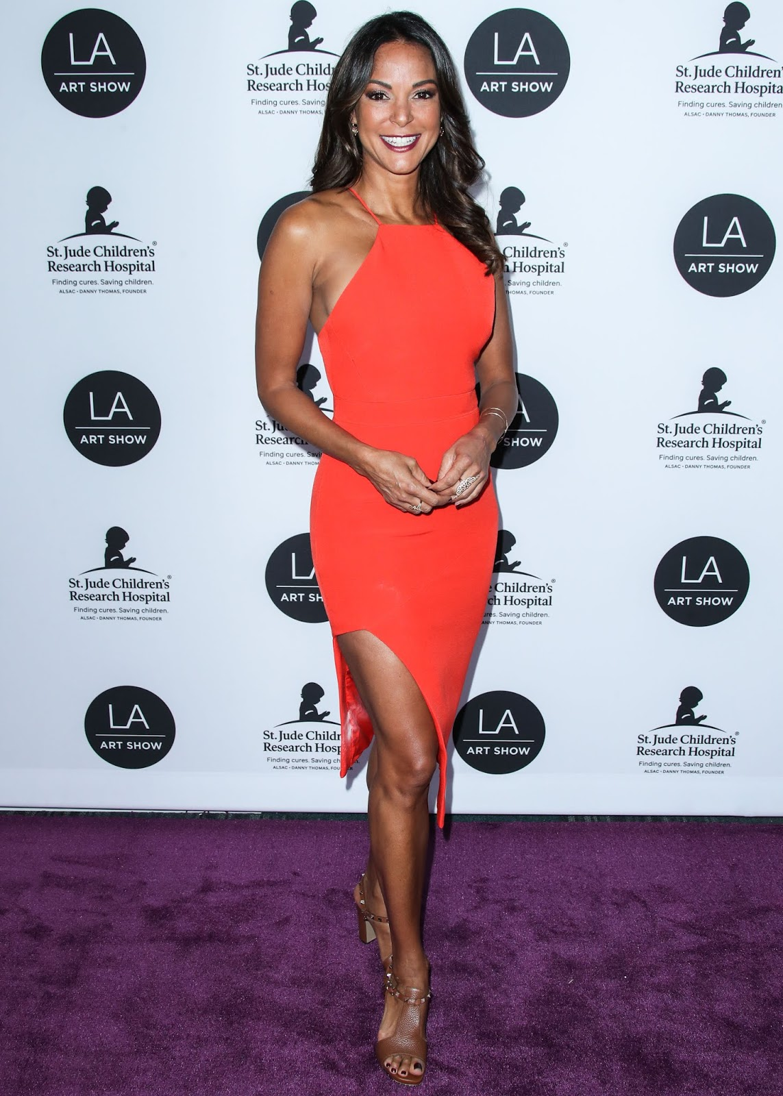 Eva LaRue attends the 24th Annual LA Art Show Opening Night Gala held at West Hall, Los Angeles Convention Center - 23 Jan 2019