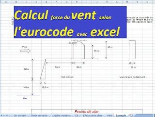 calcul vent selon l 39 eurocode en excel cours g nie civil outils livres exercices et vid os. Black Bedroom Furniture Sets. Home Design Ideas