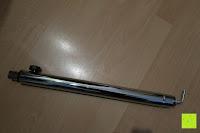 Stange: Andrew James 40cm Standventilator mit Chromfinish – 60 Watt Motor, Verstellbare Höhe, 3 Geschwindigkeitseinstellungen, verstellbare Neigung und Schwenkfunktion + Hochbeanspruchbar – 2 Jahre Garantie