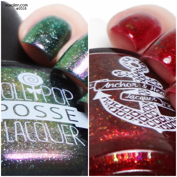 xoxoJen's swatch of Lollipop Posse and Anchor & Heart Polish Con Duo