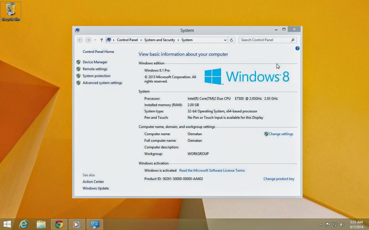 Cara Aktivasi Windows 8.1 Terbaru 2014