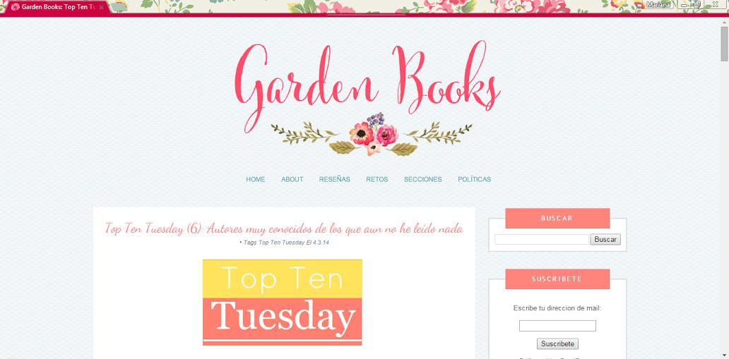 diseño para Garden Books