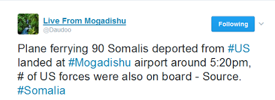 OVER 90 SOMALIS AND 2 KENYANS HAVE BEEN DEPORTED FROM UNITED STATES
