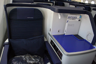 Business-class seat aboard ANA Boeing Dreamliner All Nippon Airways