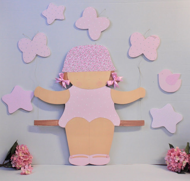 Siluetas infantiles para la pared decoración infantil personalizada